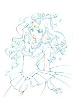 Sailor Neptune Lines to color (traditional) by Naschi
