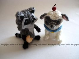 Meeko and Percy Amigurumi by AnyaZoe