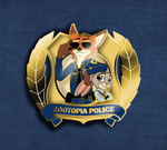 Zootopia Police Pin by SouthParkTaoist