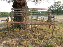 Rusty Cemetery Bench by Altaria13-Stock