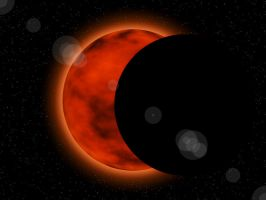 Solar Eclipse In Space by Aristodes