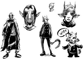 Next Comic Sketches by angieness
