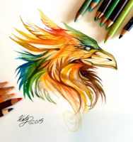 189- Phoenix Head Design by Lucky978
