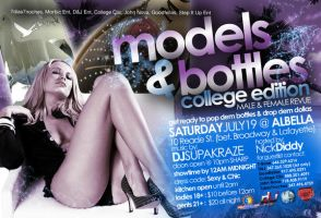 Models And Bottles Back Flyer by stevisimo