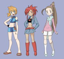 Pokemon Trainer Redesigns by DisneyAddict2012