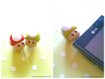 Handmade Polymer Clay Mario Mushroom Dust Plugs! by mattiemazingcharms