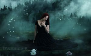 Solitary lake by Daystar-Art