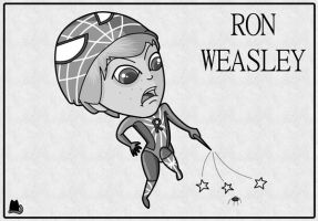 Hogwarts Superheroes: Spider-Ron by FloraDelaney