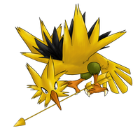 Mockingjay Shiny Zapdos -request- by AminoNoodle