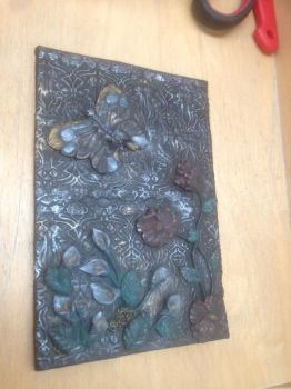 Journal Cover Flowers and Butterfly by Sigilien