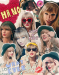 Taylor Swift Collage BG/Header by WaterFairy123