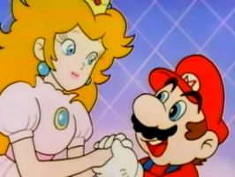 Mario x Peach Moment In Super Mario Amada by PrincessPuccadomiNyo