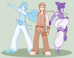 KoF:T:SF - Taekwondo Team by Tailsvader