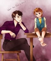 Sherlock and Bilbo by RedCAT18