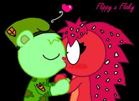 Flippy's Surprise Kiss . . . by Snoopdog1560