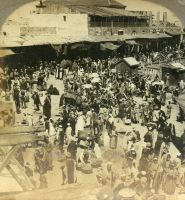 The bizarre of Jaffa on market day, Palestine by Brightstone