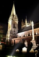 Llandaff Cathedral by Night by nectar666