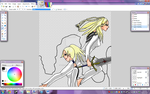 Chloey and Hysteria WIP 5 by TheSilentChloey