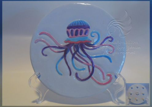 Jellyfish Handmade Ceramic Hot Plate Skillet by LRJProductions