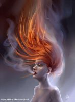 Fiery hair by benu-h