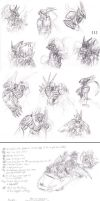 A quite huge sketchdump of Royal Knights by Sysirauta
