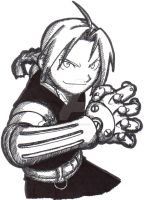 Cross-Hatching: Edward Elric by RamblinGinger