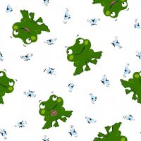 arihoma frog pattern white by arihoma