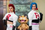 Jessie James and Meowth by TPJerematic