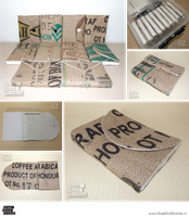 Upcycled Burlap Book Series by Marenne