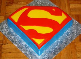 Superman symbol cake by Cakerific