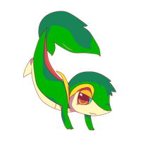 Snivy _oo1_ by iNetal