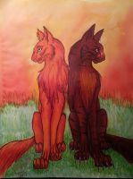 Cheederian Firestar and Tigerstar by WarriorapprenticeKat