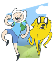 Finn and Jake by SrPelo