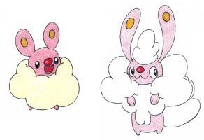 fluffy bunnies OLD by FrozenFeather