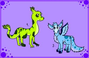 Creature Adopts! Auctions!! :3 by Lalaloraa