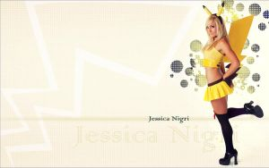 Jessica Nigri wallpaper as pikachu by colorpilot