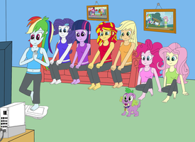 Playing Wii Fit by equestriaguy637