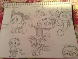 Pokemon Drawings #1 by Ask-TamTheCreator