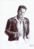 Gary Allan (#3) - Pen and Ink - Portrait by NateMichaels