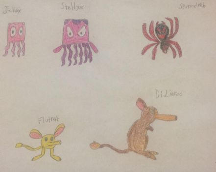 Fakemon: Jellox and More by WanderSong