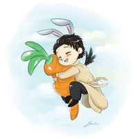 Supernatural - Bunny!Castiel by caycowa