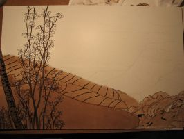 Paysage, WIP 1 by Dathamir