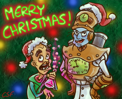 Merry Christmas from Tropy and Brio by CartoonSilverFox