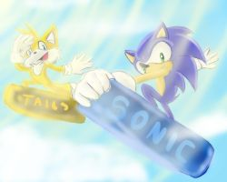 One Hour Sonic 008-Sonic and Tails by jadenyugi9