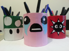 Duct Tape Pen Holders by DuctileCreations