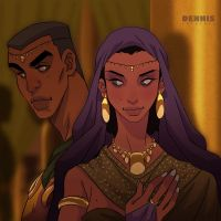 King Solomon and Queen Makeda by David-Dennis