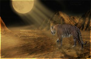 Midnight Tiger by oceancoralgraphics