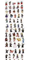 My magnet chibies 1 by belafantasy
