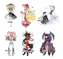 [closed] Adopt - Fantasy Batch #4 by ANJAP93-adopts