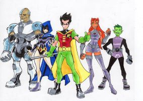 Teen Titans Colored by shushubag